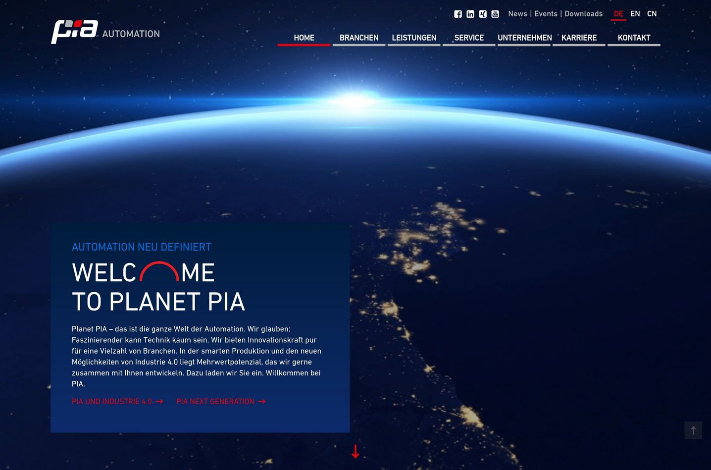 PIA Automation Holding Website Screenshot
