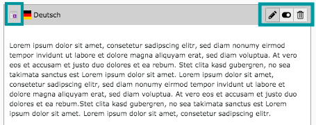 TYPO3 Content Element Backend