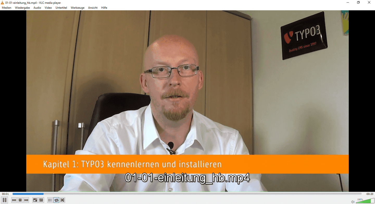 Wolfgang Wagner Video Training for TYPO3 9 LTS Introduction