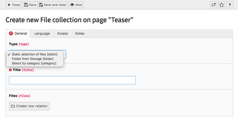 Step 5 - File Collection Types