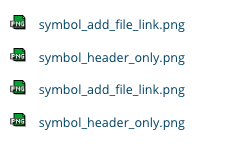 TYPO3 File Links Frontend File name and file extension icon
