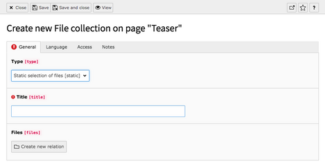 Step 5 - Static selection of files