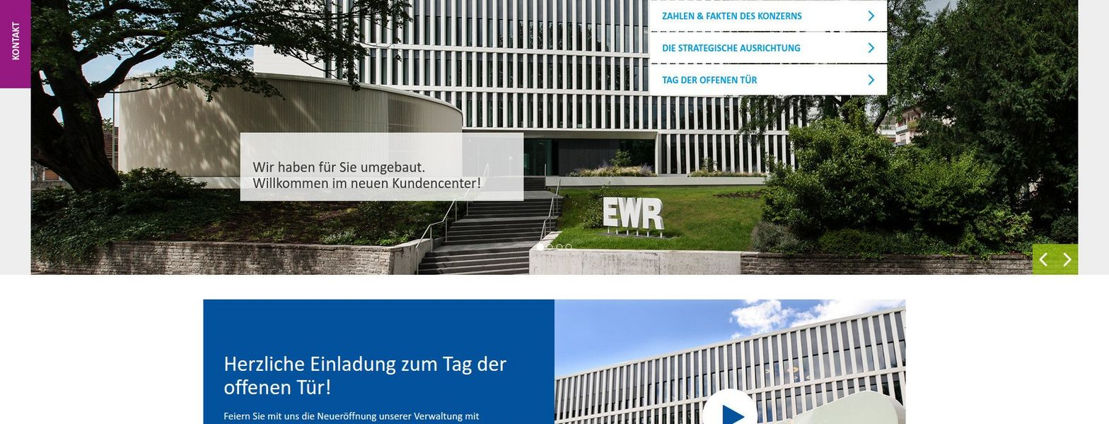 Relaunch of the EWR corporate website