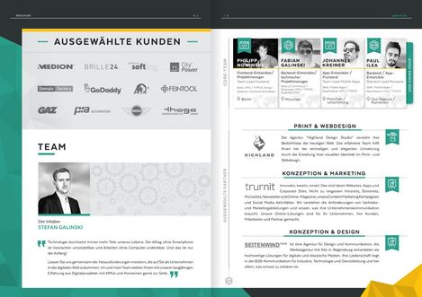 Pages 4 and 5 of the sgalinski Company Brochure