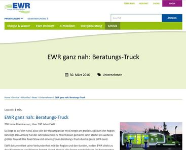 EWR - example of a news page