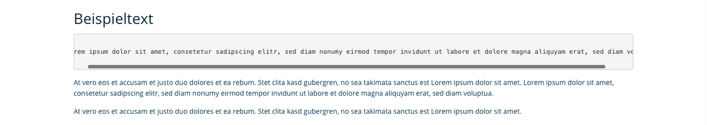 TYPO3 Rich Text Editor Paragraph Format Frontend