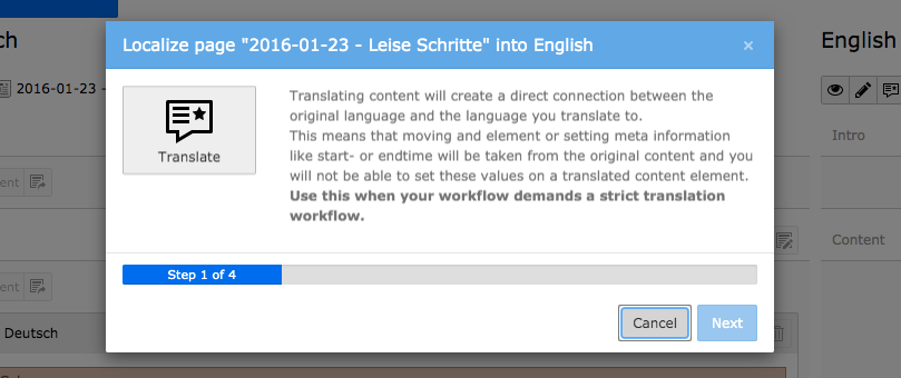 TYPO3 Translate Content