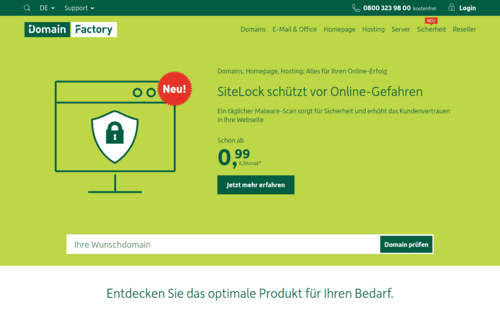 Domain Factory Website
