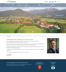 Benediktbeuern Website Screenshot