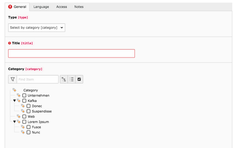 Step 5 – Select by category