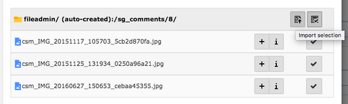 TYPO3 Content Element File Links File Selection for File Links