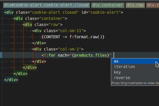 Fluid Plugin für IntelliJ IDEs