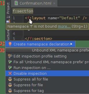 Anleitungsbild: Namespace f is not bound