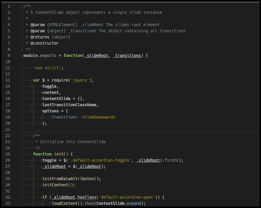 Die Verwendung der CommonJS Syntax ermöglicht die Fokussierung auf modulares JavaScript