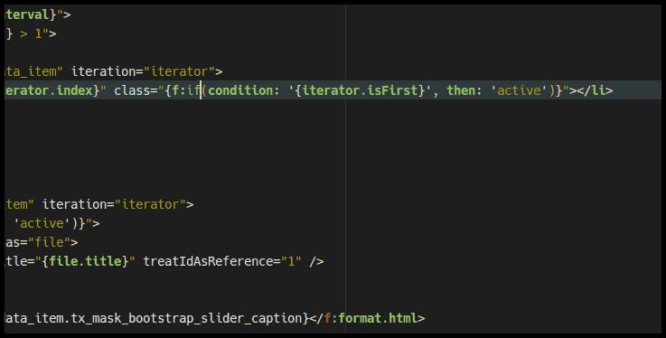 Auch bei der Verwendung der Inline-Syntax wird ein sinnvolles Highlighting, sowie Brace-Matching angeboten