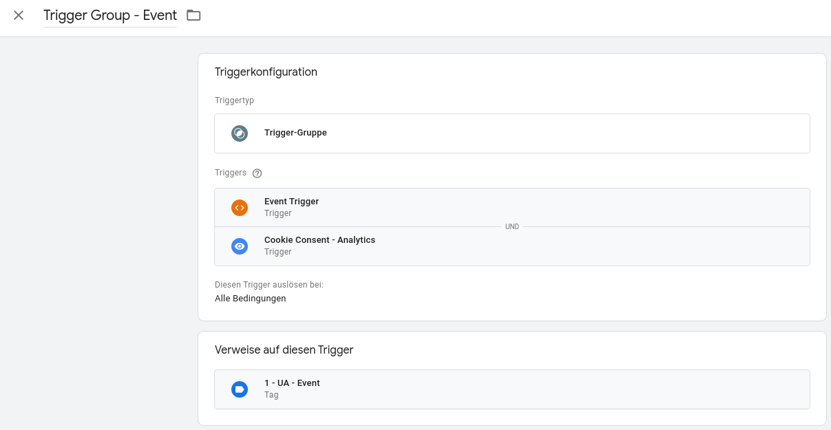 Google Tag Manager Trigger Group