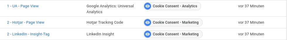 Google Tag Manager Tag Trigger
