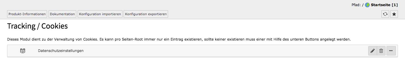 TYPO3 Cookie OptIn Extension Import Export