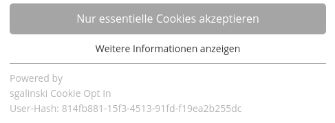 TYPO3 Cookie Consent User Hash