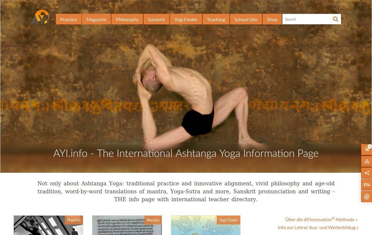 AstangaYoga.info Website Screenshot