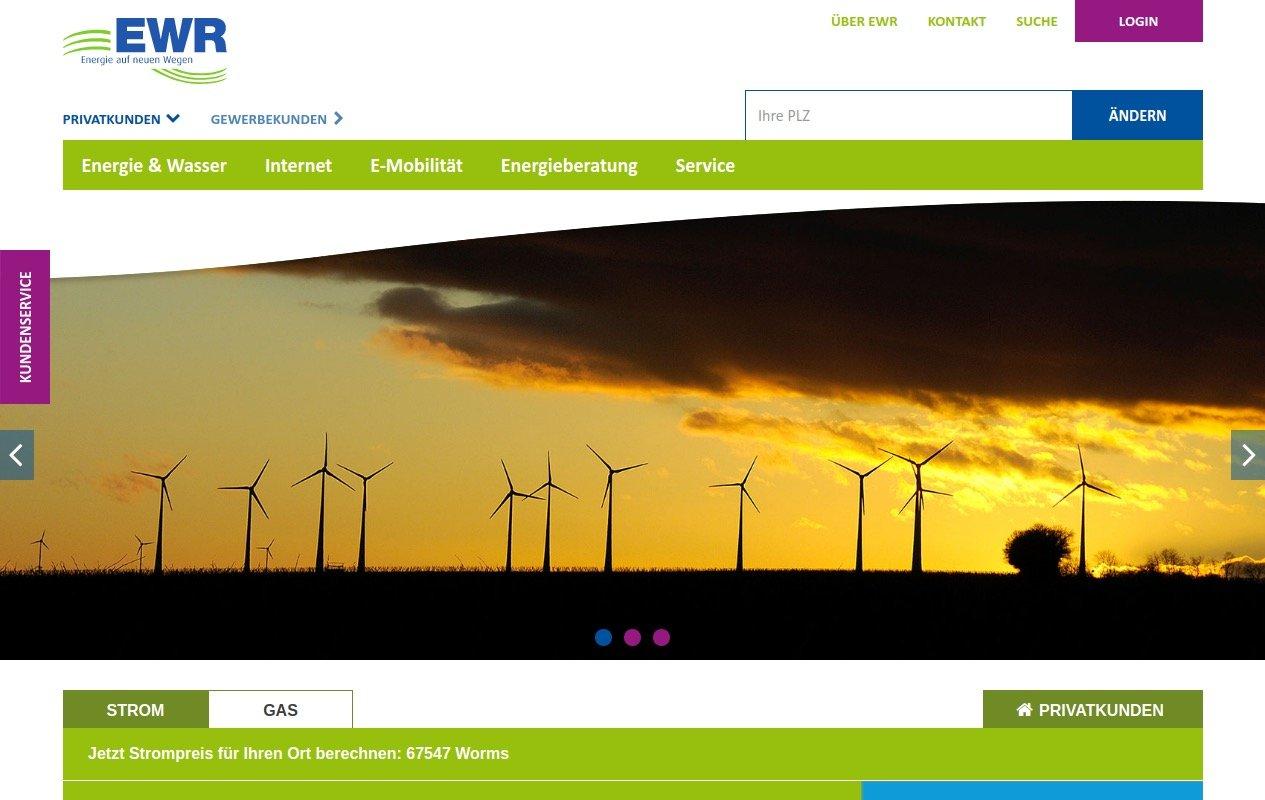 EWR Website Screenshot