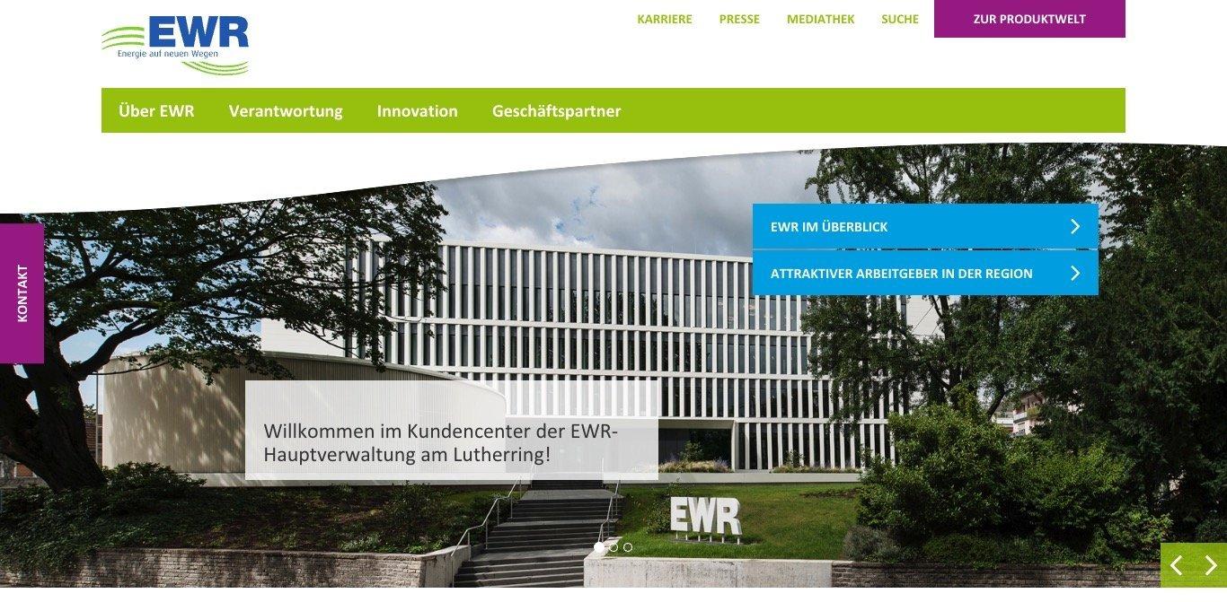EWR Aktiengesellschaft Website Screenshot