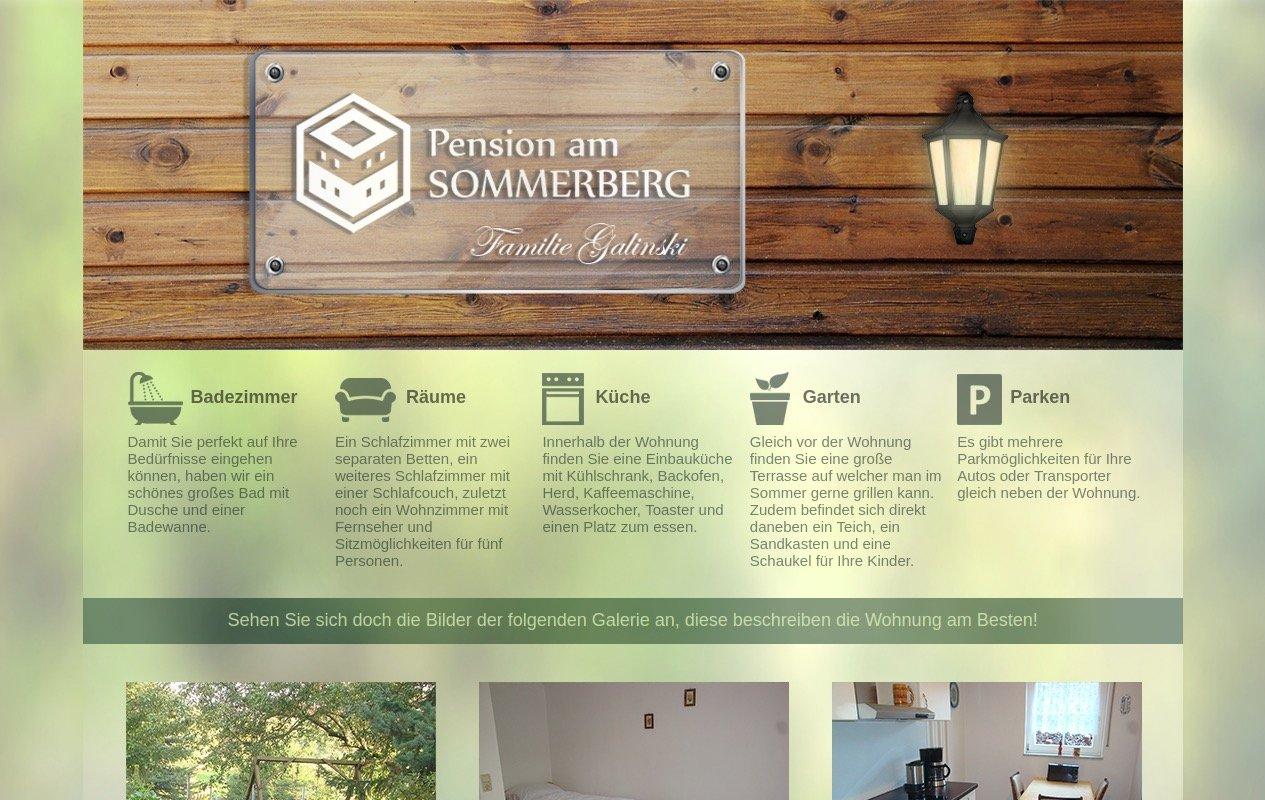 Pension am Sommerberg Website Screenshot
