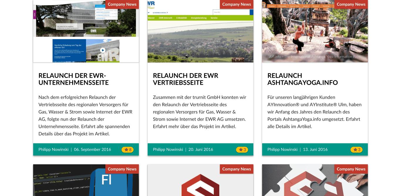 sgalinski Internet Services Website Screenshot