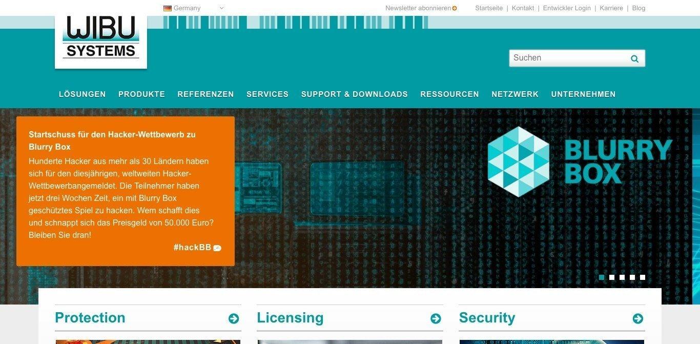 WIBU-SYSTEMS AG Website Screenshot