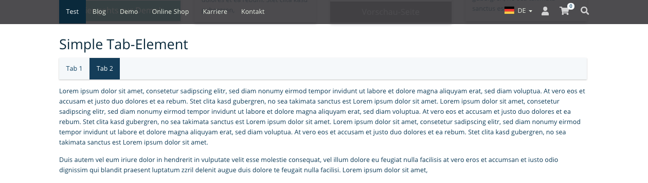 TYPO3 Mask Element Simple Tag Element Frontend