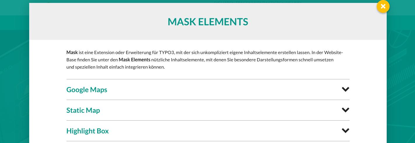 TYPO3 Website-Base Dokumentation Inhaltselemente