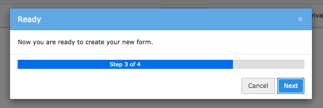 TYPO3 Module Forms Create new Form Third Step