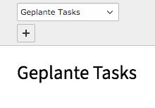 TYPO3 Backend Modul Planer Geplanter Task