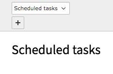 TYPO3 Backend Module Scheduler Schuduled Task