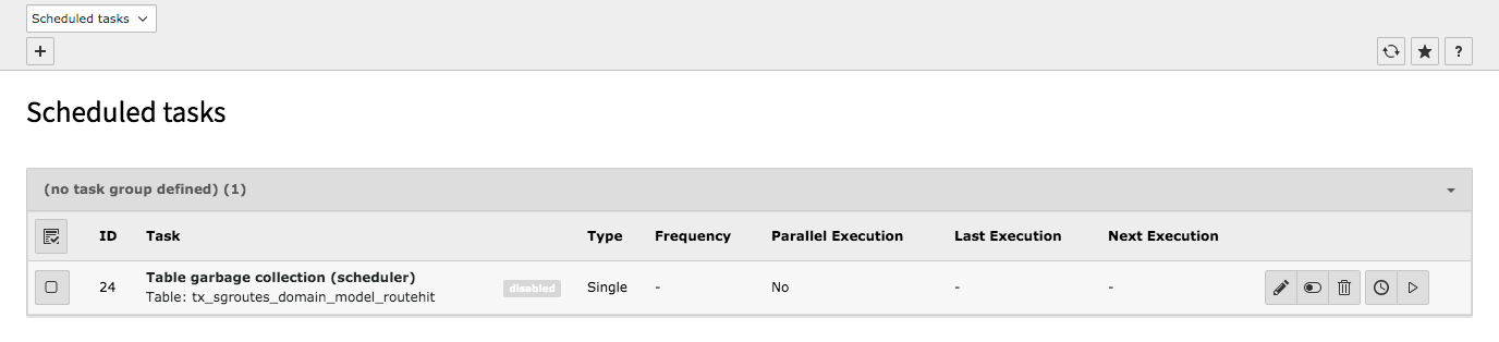 TYPO3 Backend Module Scheduler Scheduled Task