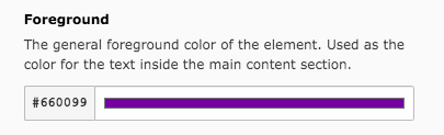 TYPO3 Modul Website Configuration Color Set Foreground Text