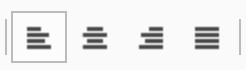 TYPO3 Rich Text Editor Text Alignment Icons