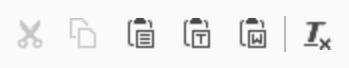 TYPO3 RTE Rich Text Editor Ausschneiden Icon Kopieren Icon Einfügen Icon