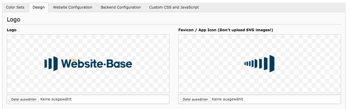 TYPO3 Backend Modul Design-Konfigurator Icon Logo ändern