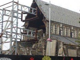Eingestürzte Kathedrale in Christchurch