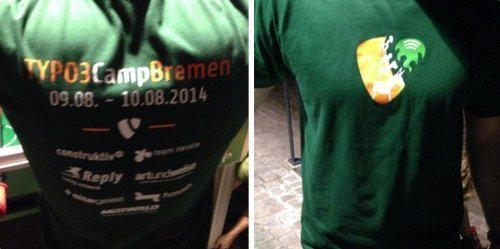 Official T-Shirt TYPO3Camp Bremen