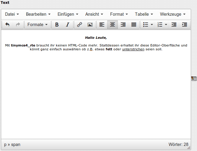 Textbox mit Editor